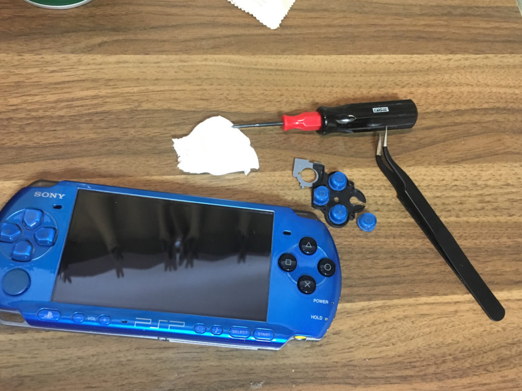 PSP ボタン交換